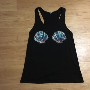 ONLY WORN ONCE Black mermaid sequin tank